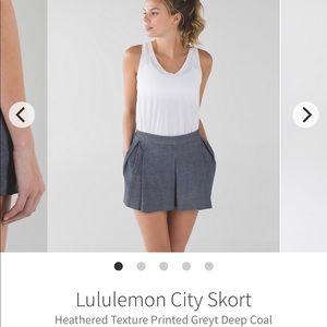 Lululemon city skort size 8